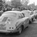 1953 Mexico, IV Carrera Panamericana – Salvador López Chávez' Porsche 356 entered by Calzado Canada at one of the checkpoints (DNF, engine failure)
