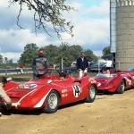 1971 Blackhawk Farms race track – Tom and Bill Schley with the Abarth 850 SP and William H. Cooper in the Ferrari 330 P3 #0844 (converted to 412P, converted to Can-Am Spyder and traded later for a used Daytona coupe)   archive: Bill Schley, WI