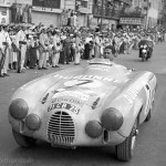 1953 Mexico, IV Carrera Panamericana - Jean Behra arrives in the magnifique Gordini T24S for the Club Francia Amigos de la Panamericana