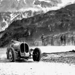 1932 Klausen, IX Internationales Klausenrennen - Achille Varzi on way to 2nd place in the unique all wheel drive Bugatti Tipo 53 (4900cc); archive Bernhard Brägger, CH