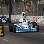 1976 Long Beach, United States Grand Prix West – Jacques Laffite in the Ligier JS5-Matra MS73 (4th) followed by Patrick Depailler in his Tyrrell-Ford 007 (3rd)