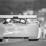 1974 Mid-Ohio, Can-Am Challenge - Herbert Müller at speed in the Ferrari 512M Spyder (V12 4v 5700 cc), he did not finished the race because of an engine failure; photographed by Jack Webster, USA