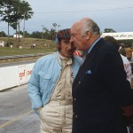 1971 Mosport Park, Player's Grand Prix Canada - Jo Siffert chatting with his boss Sir Alfred Stanley in the pitlane. Seppi achieved a 9th place in the Yardley BRM P160