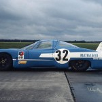 1968 Marigny – the Matra MS640 V12 during early test drives with Henri Pescarolo who crashed two month later at Les Hunaudières with the unstable car at 300 km/h; photographed by François Hurel, F