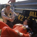 1981 Montréal, XX Grand Prix du Canada – Ferrari teammates Gilles Villeneuve and Didier Pironi having a serious conversation; photographed by Denis Brodeur, CAN