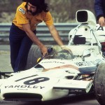 1972 Mosport Park, Canadian Grand Prix – Barry Sullivan delivers Denny Hulme's McLaren M19C/1-Cosworth DFV V8 to the pits