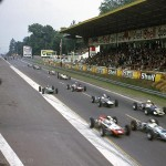 1968 Rouen, IX Coupe de Vitesse de l'A.C. Normand – Start of the Formula 3 race which was won by Adam Potocki (Matra MS5–Ford/Bélkéchout)